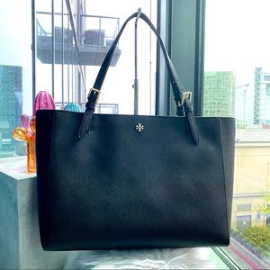 Tory Burch Black Large Emerson Buckle Tote